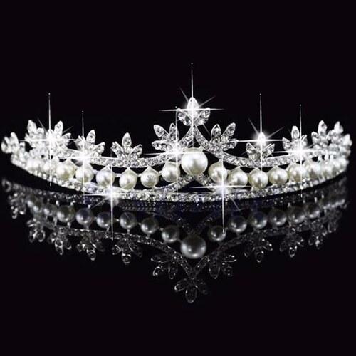 B-TOP Luxusní korunka do vlasů PRINCESS 00433 - Glami.cz 278b554ee9