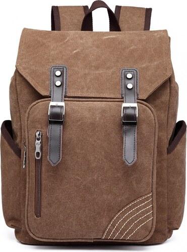 eb9f954165 Kono Pánský batoh na 14 15 palcový notebook - hnědý - Glami.cz