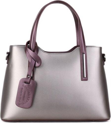 1c67b33a5f2 Talianske kožené kabelky luxusné na rameno Carina modré s camel ...