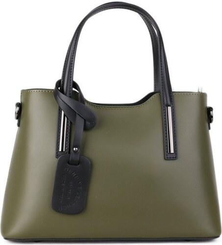 Talianske kožené kabelky luxusné na rameno Carina zelené - Glami.sk c7436664013