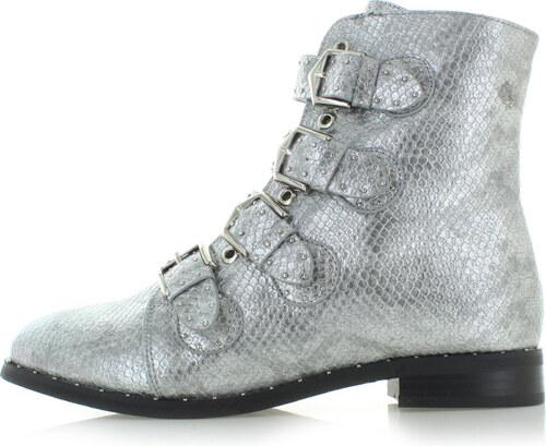 f4718c7d5ab5 Vices Strieborné členkové topánky Degas - Glami.sk