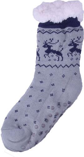 Hřejivé domácí ponožky Sob - světle šedá 39-42 Světle šedá 39-42 ... b1e166e609