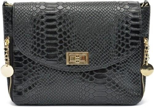 Čierna kožená kabelka Roberta M Bruna - Glami.sk 75691c8db82