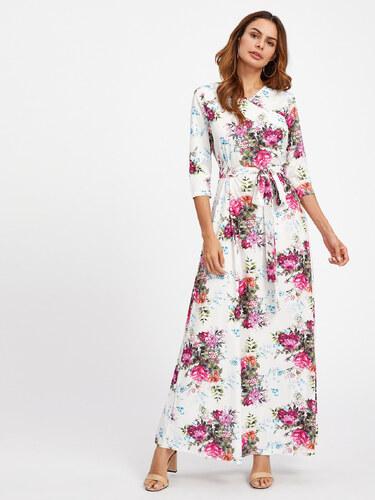 552eeef1a0b7 BadLady.sk Dlhé biele kvetované šaty - Glami.sk