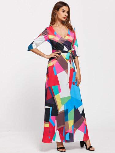 BadLady.sk Dlhé abstraktne farebné šaty - Glami.sk a655b7fc86c