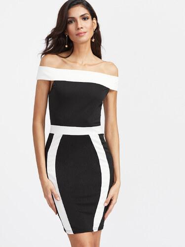 05c1148e23de BadLady.sk Krátke čierno biele šaty - Glami.sk
