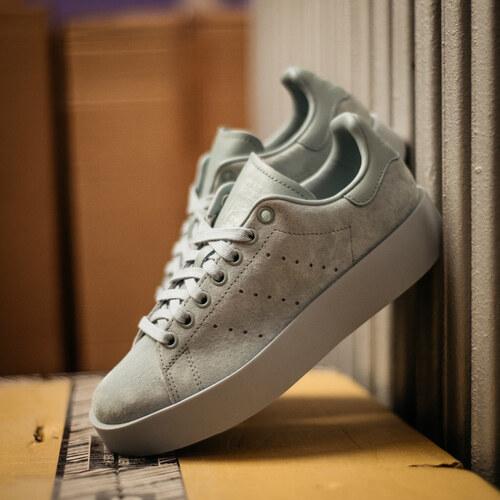 2116d6984f19e Dámske Zelené Semišové Tenisky Adidas Originals Stan Smith Bold ...