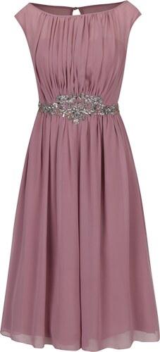 b14f3e7f7382 Staroružové šaty bez rukávov s ozdobnou aplikáciou Little Mistress ...