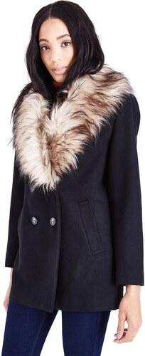 25c930bd1c4b NEW LOOK Zimný kabát s kožušinovým golierom - Glami.sk