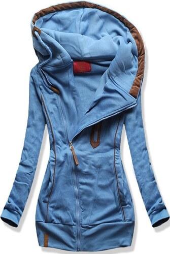 MODOVO Hosszú női kapucnis pulóver D332 farmer - Glami.hu 8428f35021