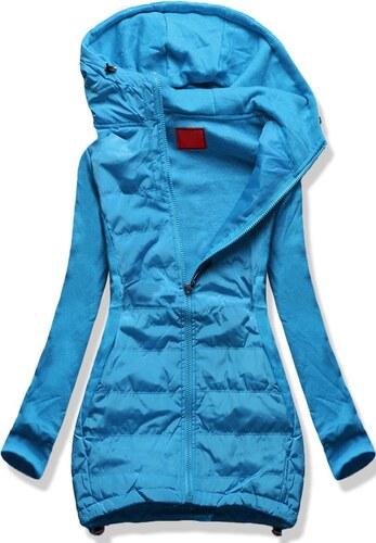 3619c70e7c2f MODOVO Dlhá dámska mikina s kapucňou D381 modrá - Glami.sk