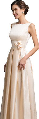 GRACE KARIN Společenské saténové šaty s růžičkami - Glami.cz c37f01bef08