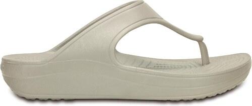 -50% Crocs Crocs Sloane Platform Flip W - Platinum W6 - vel.36 2e18ba79c8