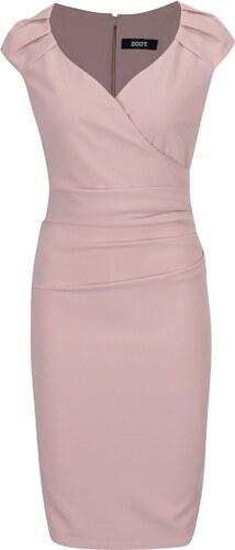 1ee7ba7a0663 Svetloružové puzdrové šaty s prekladaným výstrihom ZOOT - Glami.sk