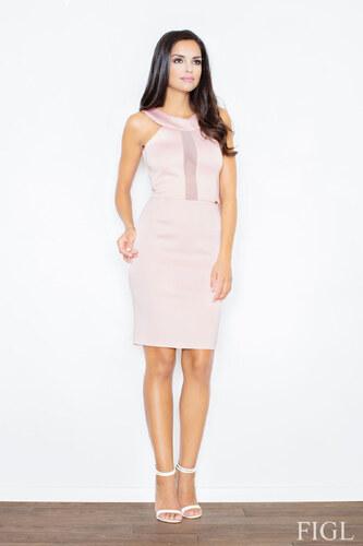 FIGL Dámske ružové penové šaty bez rukávov M372 - Glami.sk 744db829739