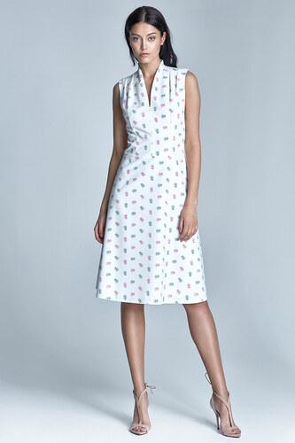 NIFE Dámske biele šaty v línii A s74 vzor ecru-ružová - Glami.sk 6c7eea4de9b