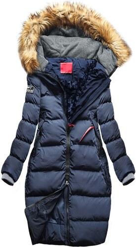 MODOVO Dámska zimná bunda s kapucňou A6 tmavo modrá - Glami.sk aac8a438b05