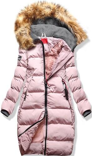 MODOVO Női téli kabát kapucnival A6 púderrózsaszín - Glami.hu facc19bdf9