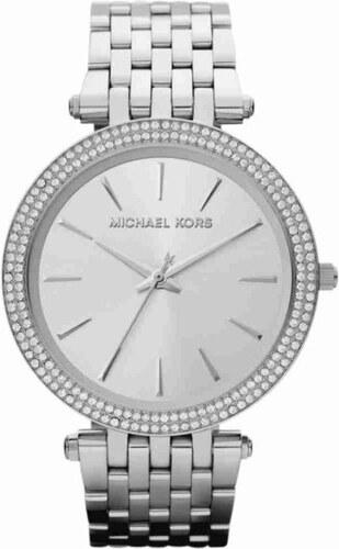 Dámské hodinky stříbrné barvy s kamínky Michael Kors - Glami.cz 29de515451