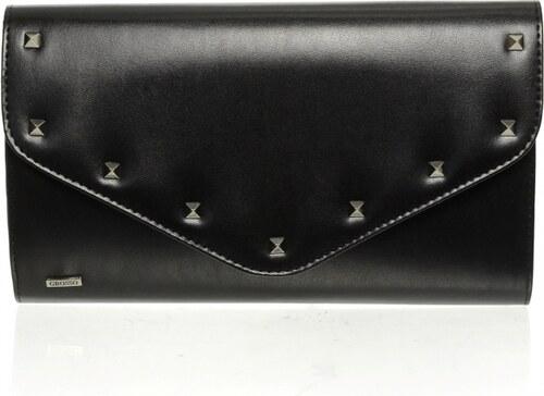 efdd32017c Čierna matná spoločenská listová kabelka s vybíjaním SP102 GROSSO ...