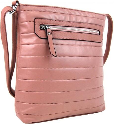 NEW BERRY Elegantní prošívaná crossbody kabelka YH1602 růžová - Glami.cz 3861aba37cd