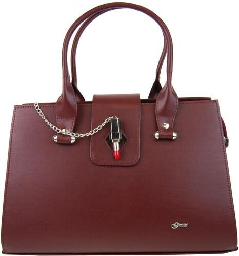 Bordová elegantná kabelka s ozdobou rúžu S710 GROSSO - Glami.sk bf09b2f3bc9
