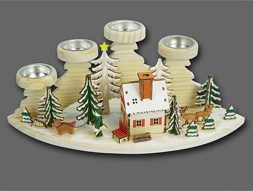 amsinck sell teelichthalter winterszene mit r ucherhaus in bunt h 15 cm onesize. Black Bedroom Furniture Sets. Home Design Ideas