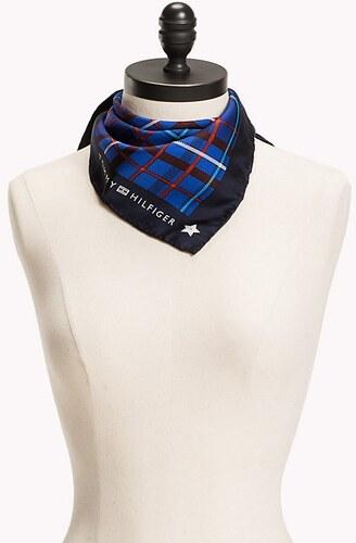Tommy Hilfiger modrý hedvábný šátek Chech Foulard - Glami.cz 6c7a684cd21