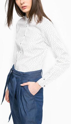 d97928e297 Tommy Hilfiger dámska biela košeľa Delia s drobným vzorom - Glami.sk