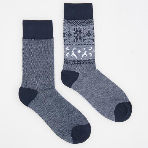 5807a3ae4cf Reserved - Vánoční ponožky - Tmavomodrá - Glami.cz