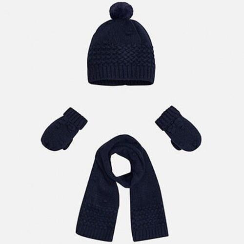 MAYORAL zimný set čiapka + šál + rukavice 10025-075 navy - Glami.sk 8e8d87a35f