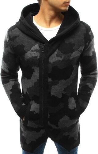 3d174c5ca4a4 Pánsky sveter s kapucňou čierna maskáčová - Glami.sk