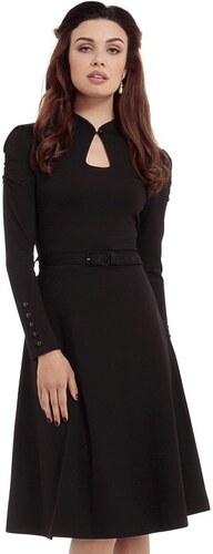 97453fb5fc1 Černé šaty s dlouhým rukávem Voodoo Vixen Dita L - Glami.cz