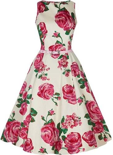 Krémové šaty Audrey s růžovými růžemi Lady V London - Glami.cz 0c1177f42e
