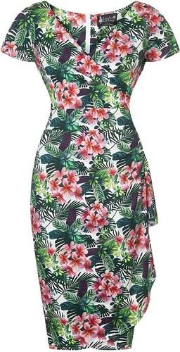 Šaty s květy Lady V London Elsie tropická zahrada - Glami.cz c1e49ea858
