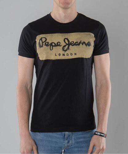 Pánské tričko Pepe jeans Charing black a1641da7c5