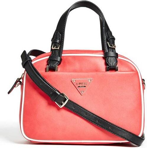 GUESS kabelka Clare Small Box Satchel červená - Glami.cz c6ea86b16e9