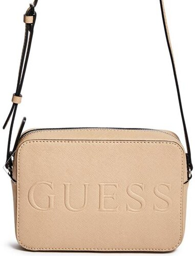 GUESS kabelka Chandler Striped Logo Crossbody sand ae73bb704a4