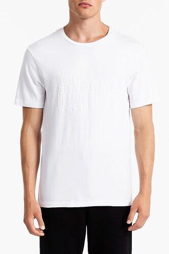 Calvin Klein bílé pánské tričko S S Crew Neck - XL - Glami.cz 51b6b094e1