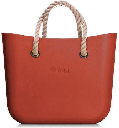 ed629fc9d6 O bag Obag kabelka MINI Terracotta s krátkymi povrazovými rúčkami natural