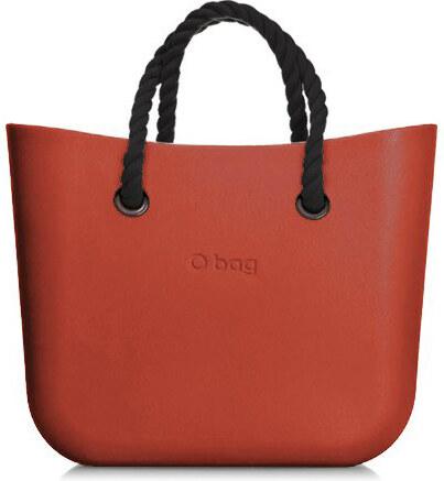 eaaaf6dc81 O bag Obag kabelka MINI Terracotta s čiernymi krátkymi povrazovými rúčkami