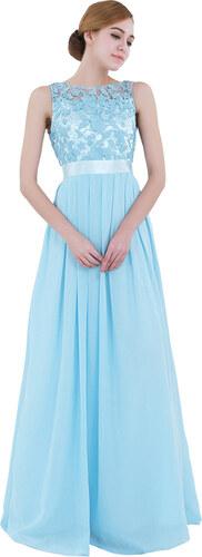 IEFIEL Společenské dlouhé šaty s krajkou modrá - Glami.cz 28e937d71b