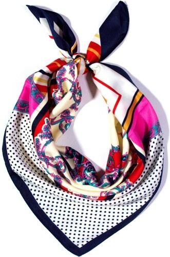 069998cf163 Y-wu Čtvercový šátek na krk vzor 60cm 60cm