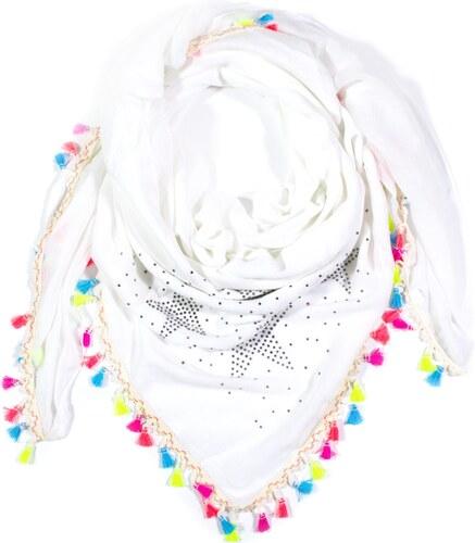 Y-wu Čtvercový šátek přes ramena s cvočky třásně 2D2-121370 - Glami.cz 0b98e4dcf3