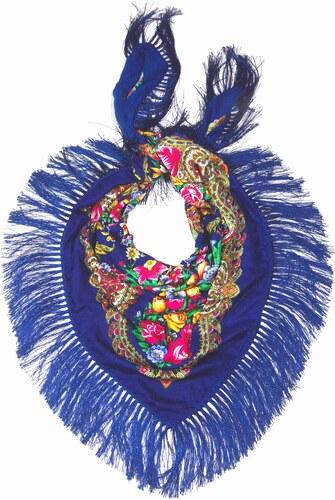 Y-wu Dlouhý šátek čtvercový třásně ruský vzor 11D2-121599 2a8e5ee8a9