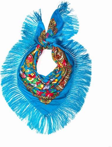 Y-wu Dlouhý šátek čtvercový třásně ruský vzor 9D1-121603 a79936a169