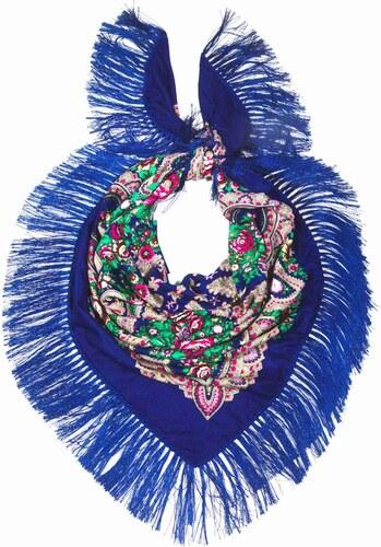 Y-wu Dlouhý šátek čtvercový třásně ruský vzor 9D1-121606 c36ecc976b