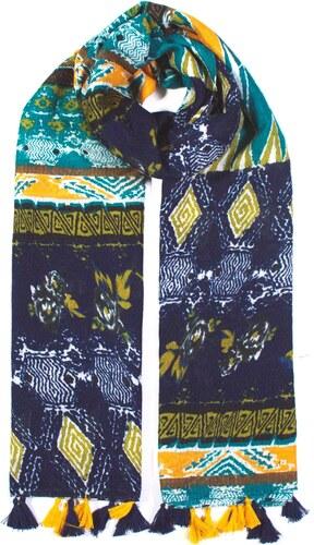 Y-wu Dlouhý šátek přes ramena BOHO s třásněmi 180cm 90cm 10B1-121502 ... 53efc278be