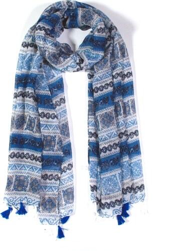 -50% Y-wu Dlouhý šátek přes ramena s třásněmi vzor 3D3-2888 a1480d41f0
