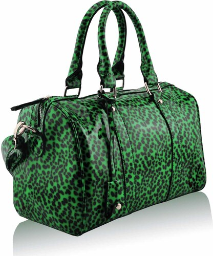 1b27db9941 L S Fashion Kabelka Green Patent Animal Print Bowling Handbag LS7008B -  Green